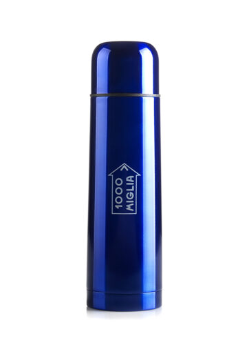 thermos blu metallizzato originale 1000 Miglia