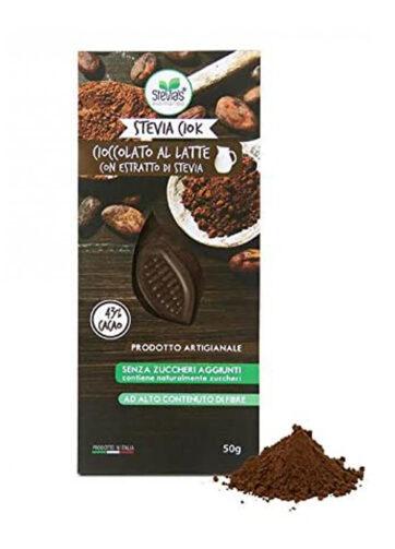 Barretta cioccolato al latte con Stevia