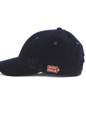 cappello in velluto baseball blu navy originale 1000 Miglia