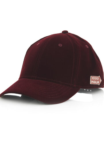 cappello in velluto baseball bordeaux originale 1000 Miglia