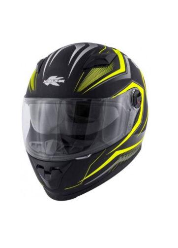 Casco integrale Kappa per moto e scooter colore giallo e nero