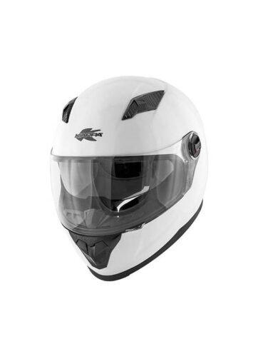 Casco integrale Kappa per moto e scooter in materiale termoplastico colore bianco