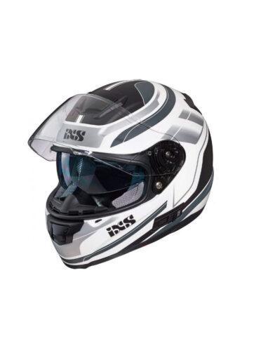 Casco integrale IXS per scooter e moto colore bianco grigio nero opaco