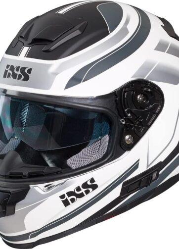 Casco integrale IXS per moto e scooter colore bianco grigio nero opaco