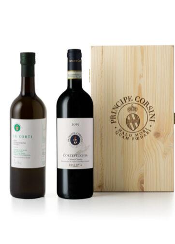 Cassetta in legno Principe Corsini - Box Vino rosso e Olio extravergine