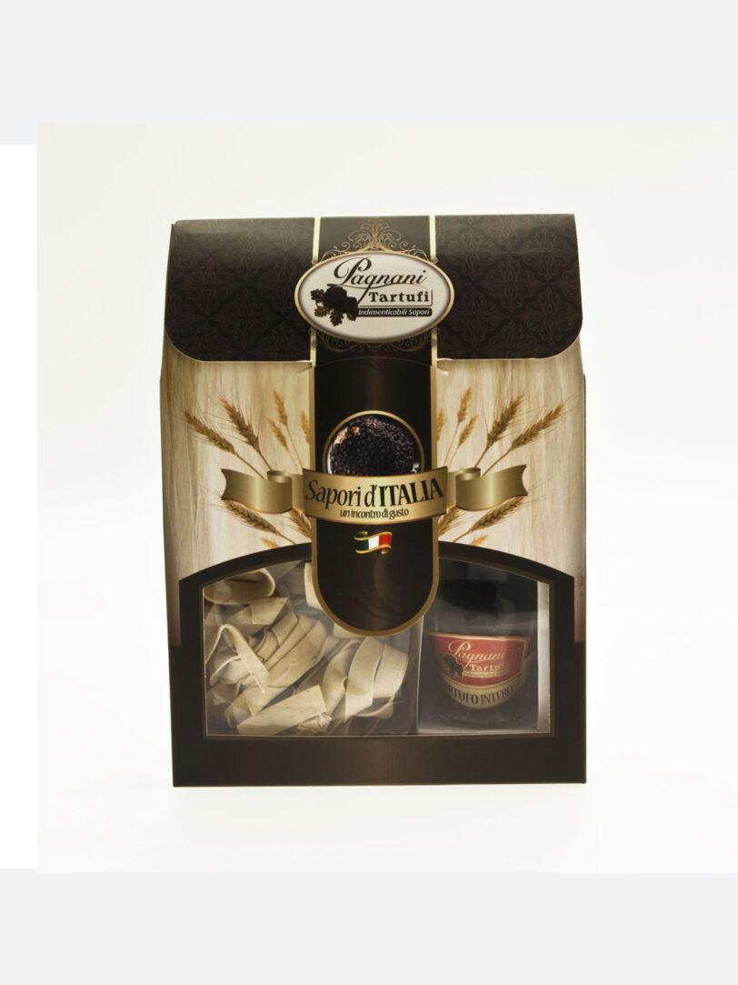 Confezione pasta al tartufo + crema 100% tartufo nero Pagnani Tartufi