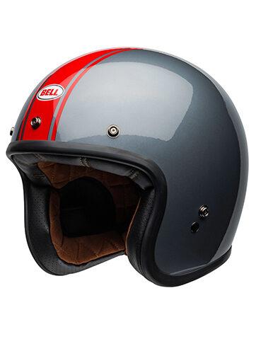 Casco Bell Custom 500 Rally Helmet Gloss grigio e rosso