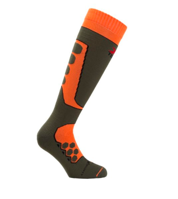 Calze moto tecniche sportive invernali raptor arancioni XTECH