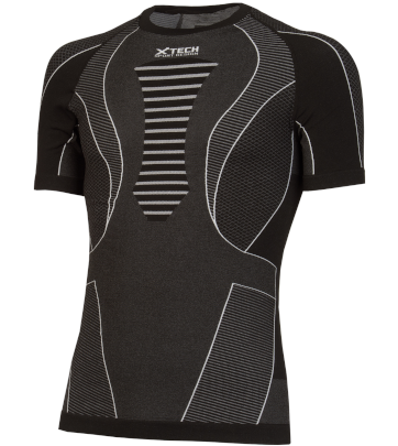 Maglia moto, bici e running tecnica sportiva antivento spyder a maniche corte grigia XTECH