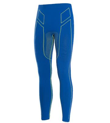 Pantaloni moto, bici e running tecnici sportivi antivento invernali blu e verdi XTECH