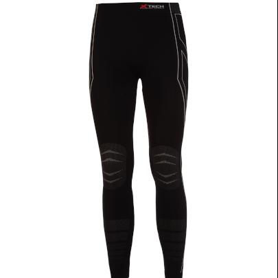 Pantaloni moto, bici e running tecnici sportivi antivento invernali neri XTECH