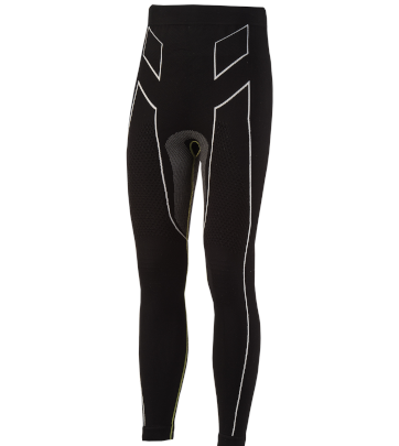 Pantaloni moto, bici e running tecnici sportivi antivento invernali neri e bianchi XTECH