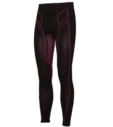 Pantaloni moto, bici e running tecnici sportivi antivento invernali neri e rosa donna XTECH