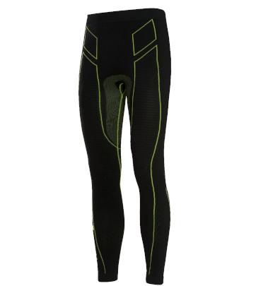 Pantaloni moto, bici e running tecnici sportivi antivento invernali neri e verdi XTECH