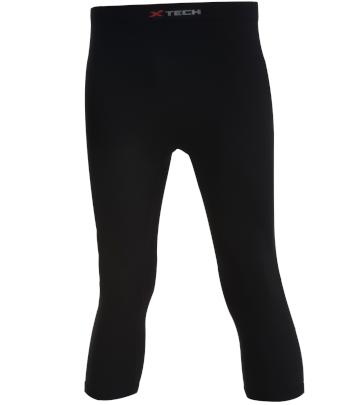 Pantaloni moto tecnici sportivi neri lunghezza 3/4 XTECH