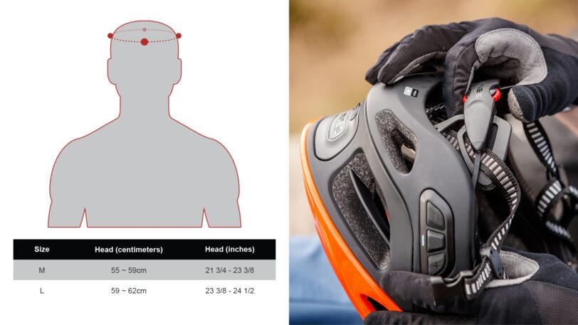 Casco bici Sena R1 con interfono, radio, connessione al cellulare, comandi vocali e luci di posizione